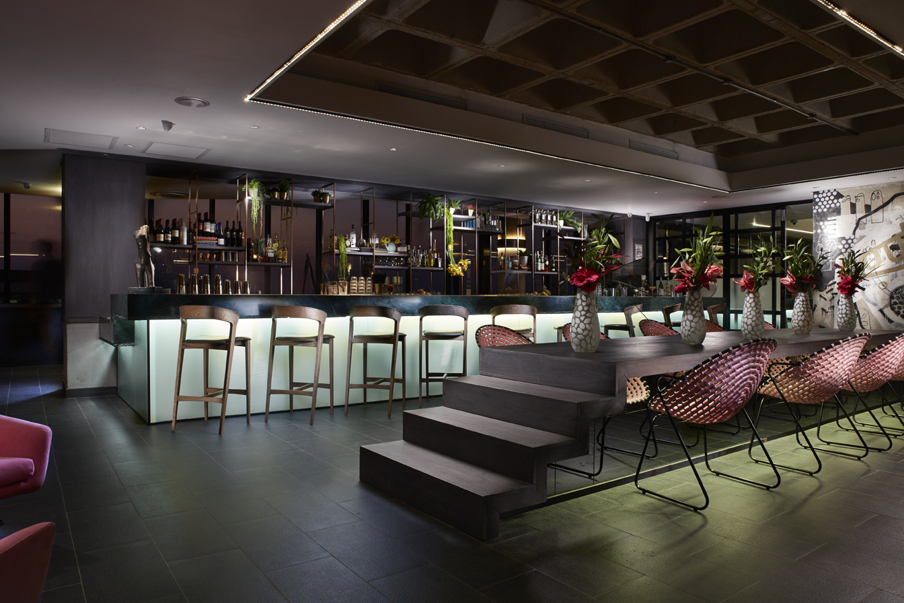 The interior design of MESH Club bar in Rosebank
