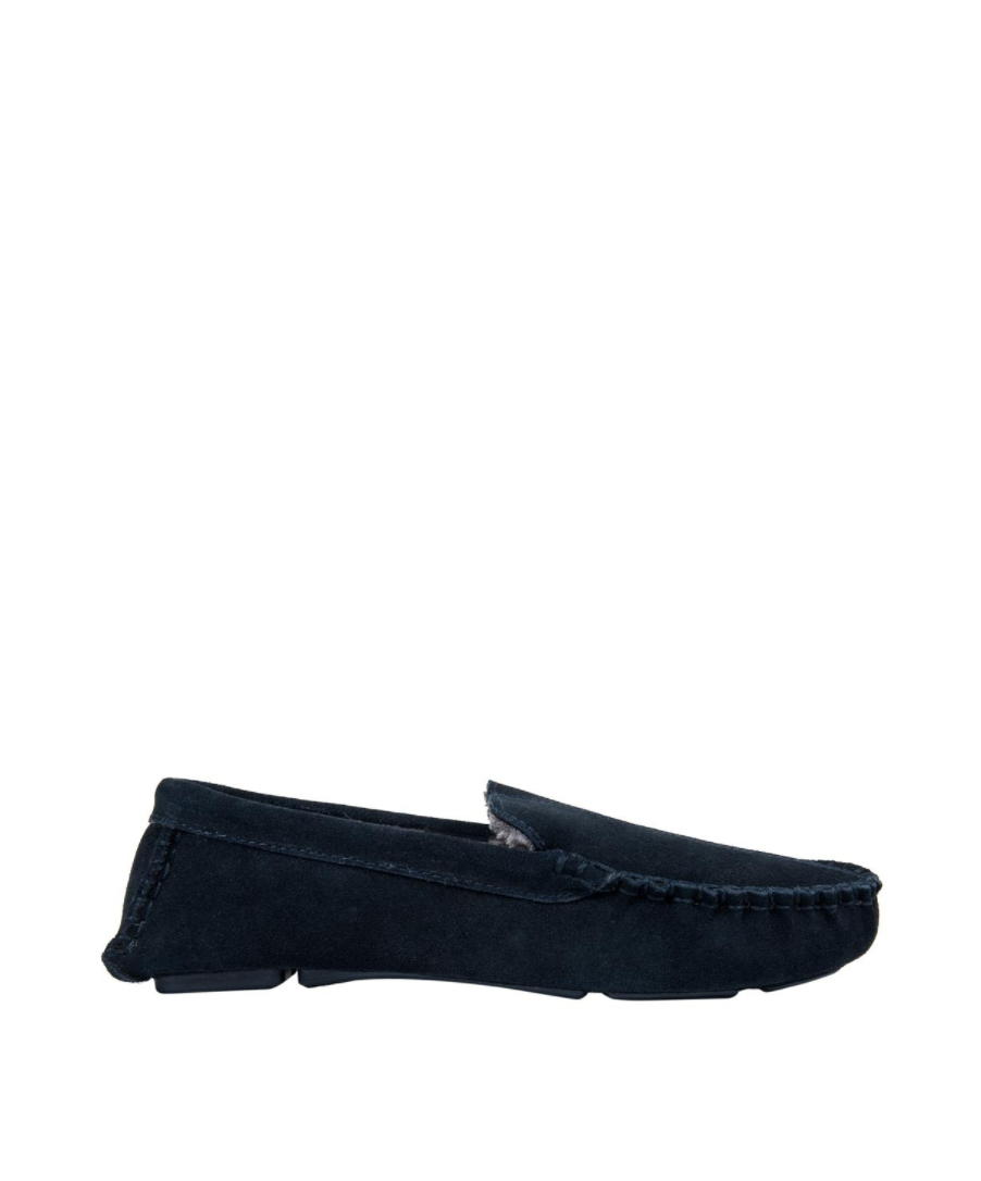 Get dad suede Moccasin slippers for Father's Day