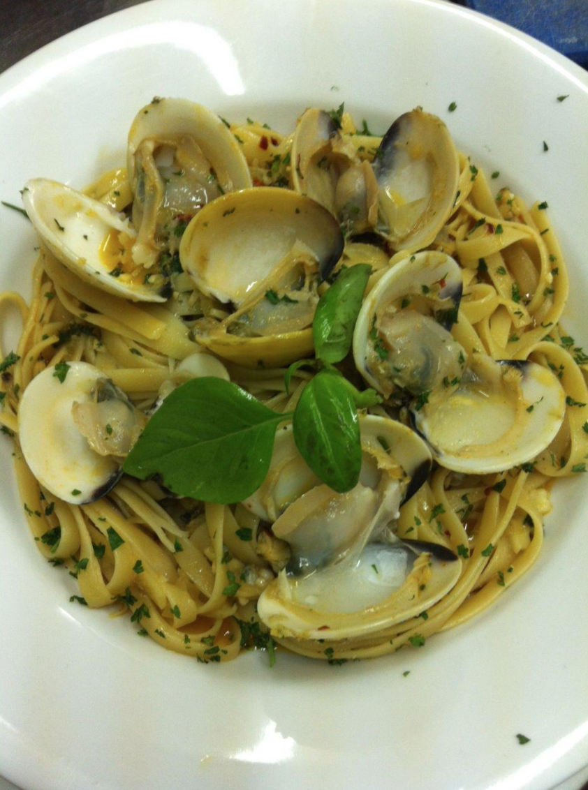 The Fettuccine con le vongole from Italian restaurant, Franco's
