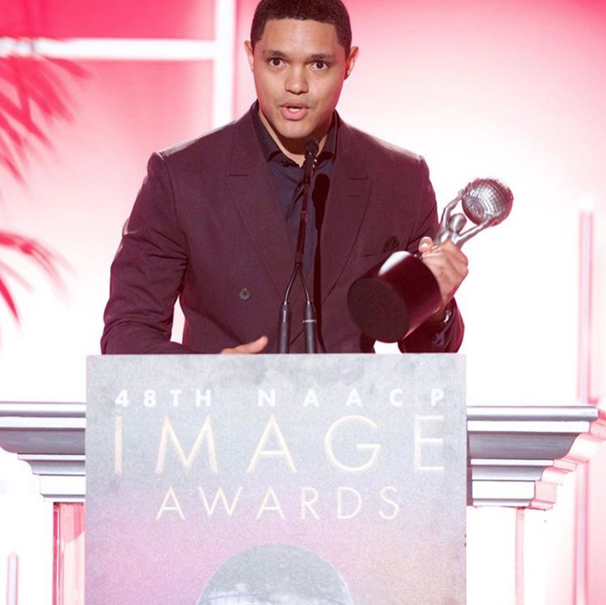 "Trevor Noah received 2 NAACP Image Awards for his book ""Born A Crime"""